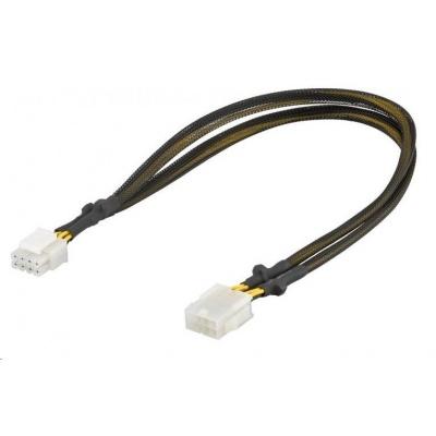 PREMIUMCORD Prodloužení napájecího kabelu, 8 pinů, délka 44cm