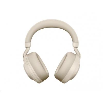 Jabra náhlavní souprava Evolve2 85, Link 380c MS, stereo, béžová