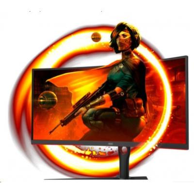 "AOC MT VA LCD WLED 34"" CU34G3S/BK - VA panel, 165Hz, 3440x1440, 2xHDMI, 2xDP, USB 3.2, repro, nast vyska, zakriven"