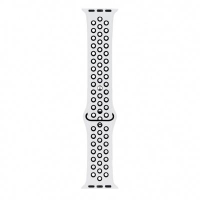 RhinoTech sportovní řemínek pro Apple Watch 42 / 44mm Bílo-černá