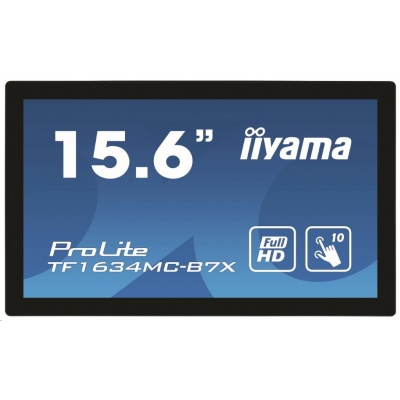 iiyama ProLite TF1634MC-B7X, 39.6 cm (15,6''), Projected Capacitive, 10 TP, Full HD, black