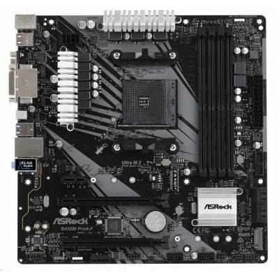 ASRock MB Sc AM4 B450M PRO4-F, AMD Promontory B450, 4xDDR4, HDMI