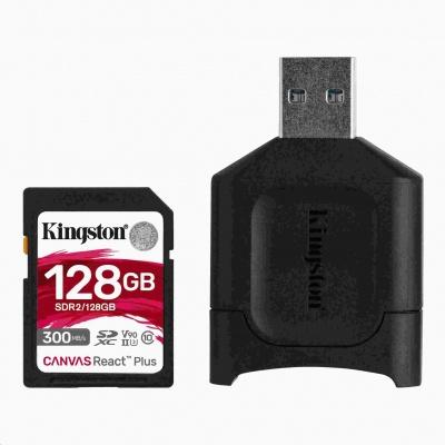 Kingston 128GB SDXC React Plus SDR2 + MLP SD čtečka