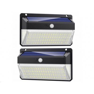 Viking venkovní solární LED světlo M228 s pohybovým senzorem, sada 2 ks