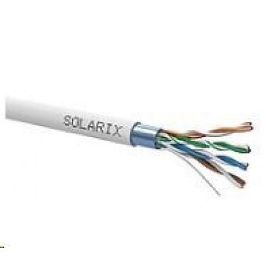 Instalační kabel Solarix FTP, Cat5E, drát, PVC, cívka 500m SXKD-5E-FTP-PVC