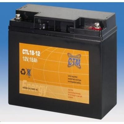 Baterie - CTM CTL 18-12 (12V/18Ah - M5), životnost 10-12let