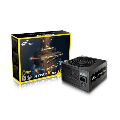 Fortron zdroj 500W HYPER K PRO 500 Retail, EN62368, 230V, +12V Dual Rail, A-PFC,12cm
