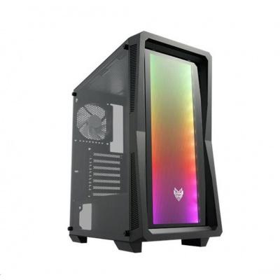 Fortron skříň Midi Tower CMT212G Black, A.RGB light bar