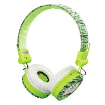 TRUST sluchátka Fyber headphones - sports green
