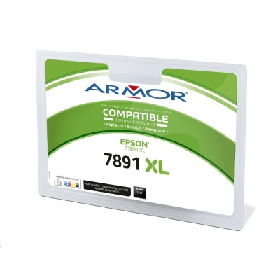 ARMOR ink-jet pre EPSON WorkForce Pro WF-5110, 5190, 5620, 5690, 4000 strán, T789140, čierná/black (89XXL)