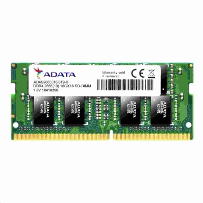 SODIMM DDR4 8GB 2666MHz CL19 ADATA Premier memory, 1024x8, Single