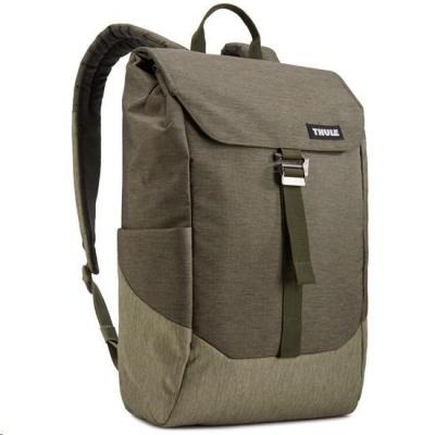 """THULE batoh Lithos pro Macbook 15"""", tmavě zelená/lišejníková"""