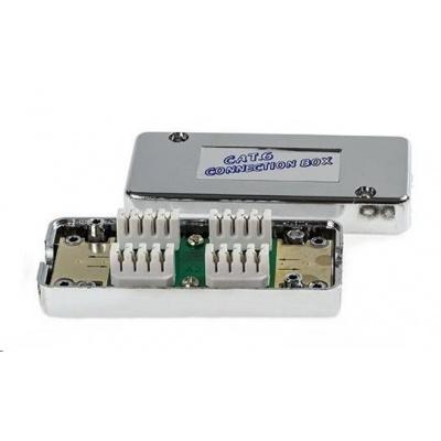 Spojovací box STP Cat6 narážecí, stříbrná