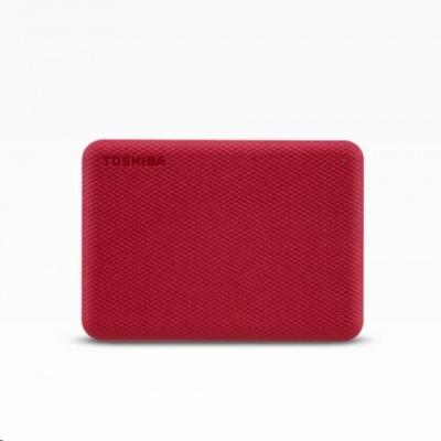"TOSHIBA HDD CANVIO ADVANCE (NEW) 1TB, 2,5"", USB 3.2 Gen 1, červená / red"