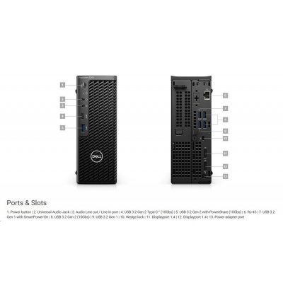 DELL PC Precision 3240/Core i7-10700/16GB/512GB SSD/Quadro P1000/TPM/Kb/Mouse/W10Pro/vPro/3YPS