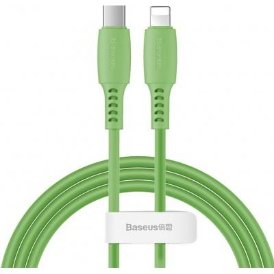Baseus Colorful nabíjecí / datový kabel USB-C na Lightning 18W 1,2m, zelená