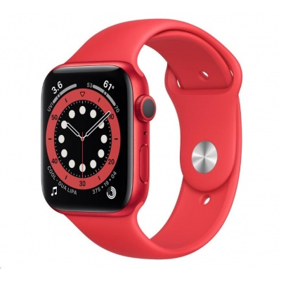 APPLE Watch Series 6 GPS, 40mm PRODUCT(RED) hliníkové pouzdro + PRODUCT(RED) sport řemínek