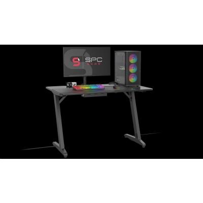SPC Gear herní stůl GD100, výřezy pro kabeláž, stabilní, černá