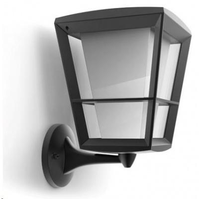 PHILIPS Econic Venkovní nástěnná lucerna, up, White and Color Ambience, integr.LED, Antracit