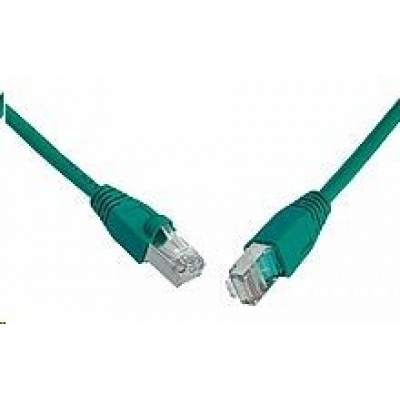 Solarix Patch kabel CAT5E SFTP PVC 20m zelený snag-proof C5E-315GR-20MB
