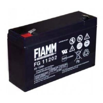 Baterie - Fiamm FG11202 (6V/12,0Ah - Faston 250), životnost 5let