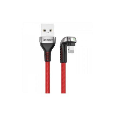 Baseus herní nabíjecí / datový kabel Lightning 1,5A 2cm, červená
