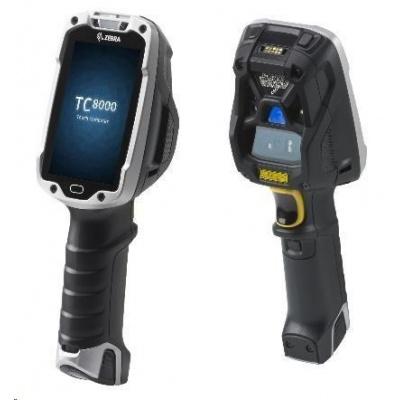 Zebra TC8000 standard, 1D, SR, BT, Wi-Fi, disp., hot-swap, Android