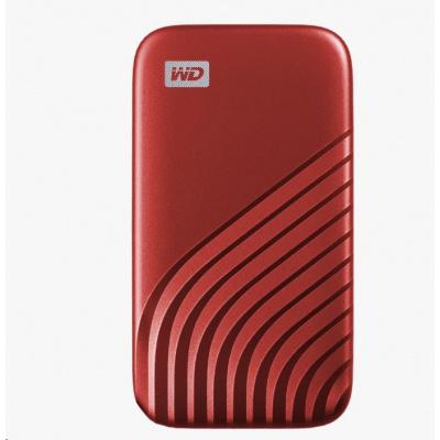 SanDisk WD My Passport SSD externí 500GB , USB-C 3.2 ,1050/1000MB/s R/W PC & Mac ,Red