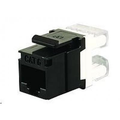 Solarix Zařezávací keystone CAT6 UTP RJ45 černý SXKJ-6-UTP-BK
