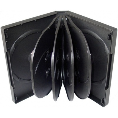 OEM Krabička na 10 DVD černá, 50 ks/bal.