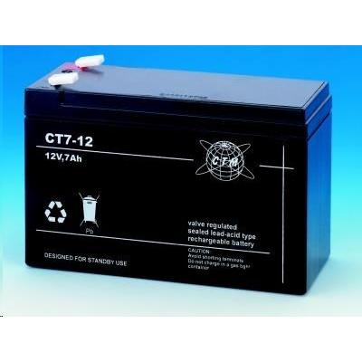 Baterie - CTM CT 12-7 (12V/7Ah - Faston 187), životnost 5let