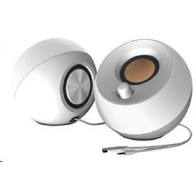 Creative repro Pebble - mobilní reproduktor - bílý