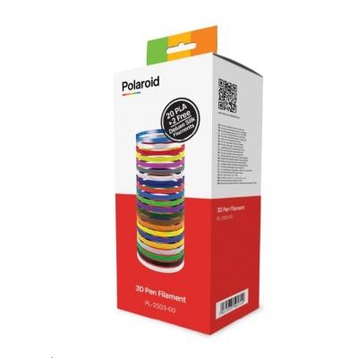 Polaroid 3D Pen Filament - Náplně do 3D pera - 20 barev + 2 deluxe - POŠKOZENÝ OBAL