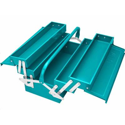 Total THT10702 Kufr na nářadí kovový, industrial, 5 přihrádek, rozměry 400x200x195mm
