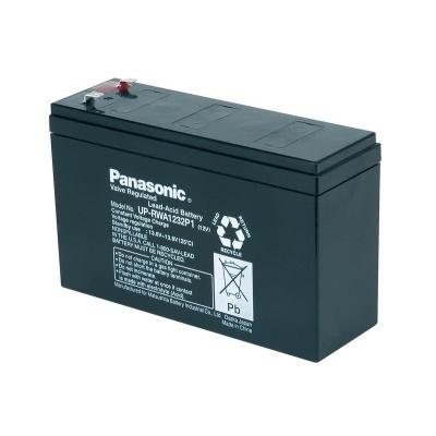 Baterie - Panasonic UP-RWA1232P2 (12V/7Ah-32W/čl. - Faston 250), životnost 6-9 let