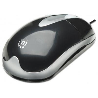 MANHATTAN Myš MH3, USB, optická, 1000 dpi, černo-stříbrná
