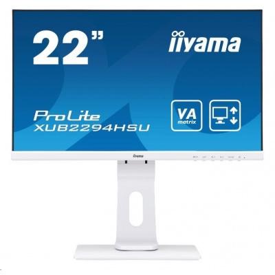 iiyama ProLite XUB2294HSU-W1, 54.6cm (21.5''), Full HD, white