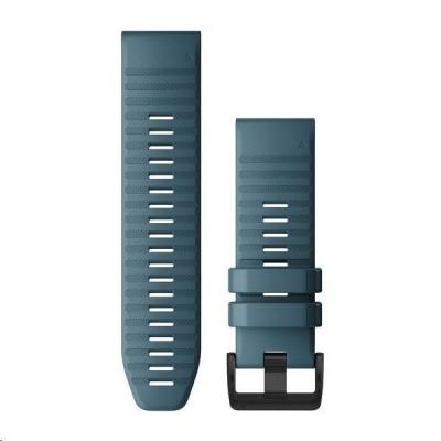 Garmin řemínek pro fenix6X - QuickFit 26, silikonový, modrý, černá přezka