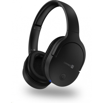 CONNECT IT bezdrátová náhlavní sluchátka, černá