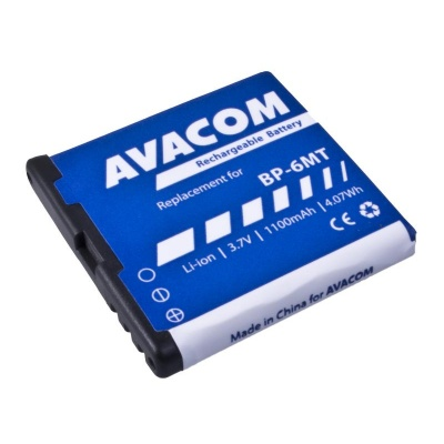 AVACOM baterie do mobilu Nokia E51, N81, N81 8GB, N82, Li-Ion 3,6V 1100mAh (náhrada BP-6MT)