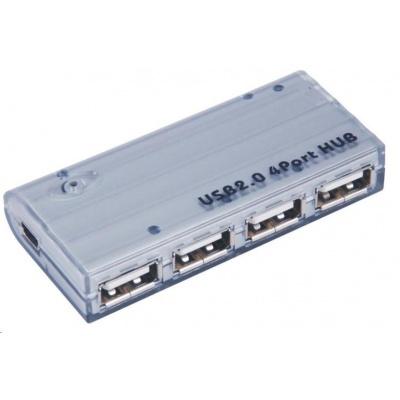 PremiumCord USB HUB 4-portový V2.0 bez napájení mini
