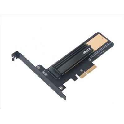 AKASA adaptér M.2 SSD na PCIe s chladičem
