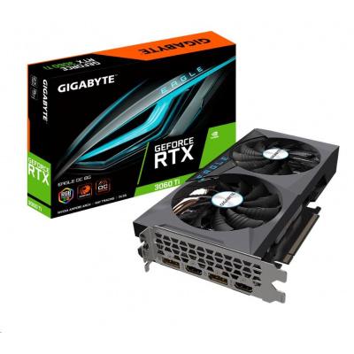 GIGABYTE VGA NVIDIA GeForce RTX 3060 Ti EAGLE OC 8G LHR Rev. 2.0, RTX 3060 Ti LHR, 8GB GDDR6, 2xDP, 2xHDMI
