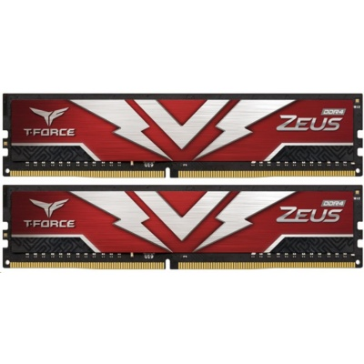 DIMM DDR4 16GB 3200MHz, CL20, (KIT 2x8GB), T-FORCE ZEUS Gaming Memory (Red)