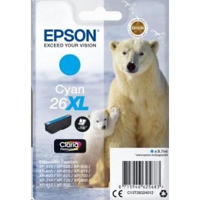 "EPSON ink bar Singlepack ""Lední medvěd"" Cyan 26XL Claria Premium Ink"