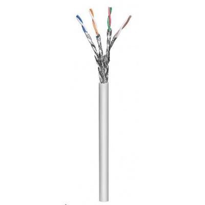 Intellinet Cat6A SFTP kabel, drát 305m, 23AWG, LSOH, šedý