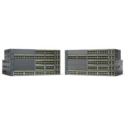 Cisco Catalyst 2960+24TC-S, 24x10/100, 2xGbE SFP/RJ-45