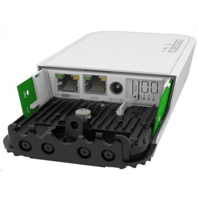 MikroTik RouterBOARD RBwAPGR-5HacD2HnD&R11e-LTE wAP, 716MHz, 128MB RAM, 2xGLAN, 2,4Ghz+5GHz, LTE, 1xMiniPCIe, 1xSIM, L4