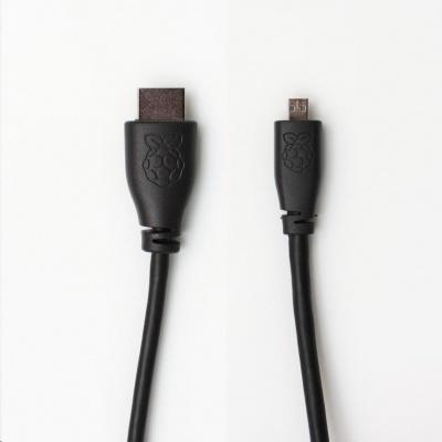 Raspberry Pi microHDMI kabel, 1m, černý