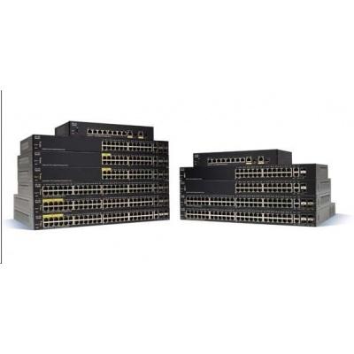 Cisco switch SF350-48MP-RF, 48x10/100, 2xSFP, 2xGbE SFP/RJ-45, PoE, REFRESH